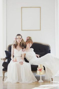 Hair: Emily - Makeup: Lauren - Photography: Vicky Starz - Flowers: Sweet Woodruff - Gowns: Mrs. Bridal Boutique