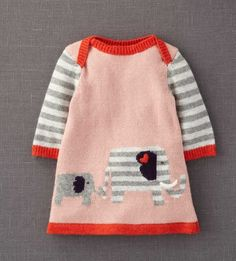 Mini Boden 'My Baby' Knit Dress (Infant) available at Nordstrom Toddler Outfits, Baby Outfits, Kids Outfits, Knitting For Kids, Baby Knitting, Knitted Baby, Pull Bebe, Knit Baby Dress, Mini Boden