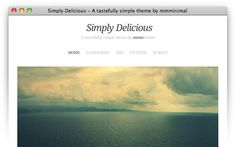 Simply Delicious wonderful minimal theme  instant download
