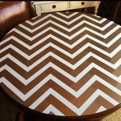 My newly-painted dining table top - I'm only mildly obsessed with it