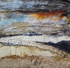 59 Ideas painting abstract mixed media for 2019 Mix Media, Mixed Media Art, Mixed Media Painting, Abstract Landscape, Abstract Art, Abstract Nature, A Level Art, Encaustic Art, Watercolor Artists