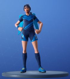 Skin Footballeuse Blonde Fortnite Png Clinical Crosser Frozen Love Wings Fortnitefashion Di 2020