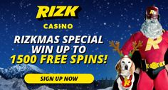 Us being in a holiday season, Rizk Casino is here to put you in the festive mood.  This merry Christmas campaign rewards all players with a fabulous 1500 bonus spins and more!
