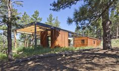 Dynia Architects completed Boulder Cabin, a contemporary home that emphasizes sustainability.