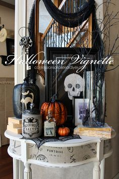 a simple halloween vignette confessions of a serial do it yourselfer - Halloween Decorations Michaels