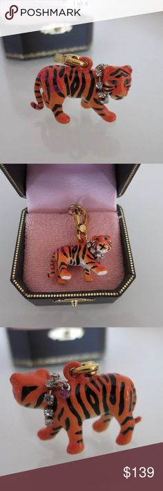 Juicy Couture Tiger Charm Rare 2010 Juicy Couture Tiger charm.  It's brand new and comes with it's original box. The charm is in perfect condition and has all the stones in the collar. No trades.  **check out my other Juicy Couture listings** Juicy Couture Jewelry