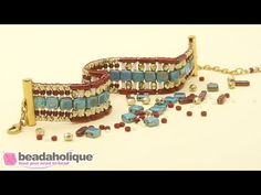 How to Make the Patchworks Loom Bracelet Kits by Beadaholique. - In this video learn how to make the Patchworks Loom Bracelet Kit, an exclusive design and kit by Beadaholique. The bracelet is created on a traditional loom but this kit stands out in Bead Loom Bracelets, Beaded Bracelet Patterns, Bracelet Designs, Beaded Jewelry, Jewellery, Swarovski, Beads Online, Beading Techniques, Loom Patterns
