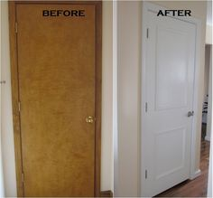 home upgrades that add value builder grade ~ home upgrades that add value Home Upgrades, Diy Home Improvement, Panel Doors, Trim On Doors, Home Projects, Home Remodeling, Mobile Home Renovations, Mobile Home Makeovers, Remodeling Mobile Homes