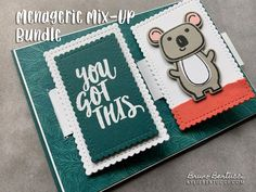 Maui Trip Achievers Blog Hop September 2020   Flip Card using Menagerie Mixup with Ridiculously Awesome! - Kylie Bertucci