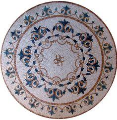 MD109 Marble Mosaic Medallion Tile