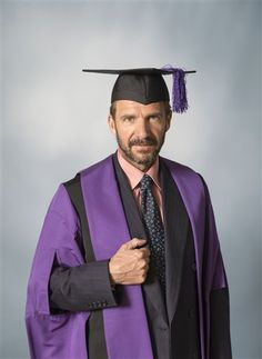 yesterdaysheroes: The Official Portrait of Ralph from the UAL Graduating Ceremony.