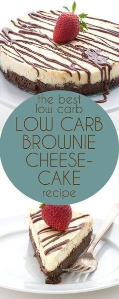 This is simply the BEST low carb cheesecake recipe. Grain-free brownie crust and creamy sugar-free vanilla cheesecake. LCHF Keto Banting THM recipe. via @dreamaboutfood