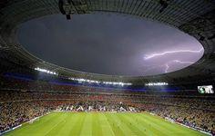 Donbass Arena during the Group D Euro 2012 soccer match Ukraine vs France in Donetsk