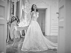Abiti da sposa Atelier Signore dalla collezione 2017 - Abito da sposa in pizzo…