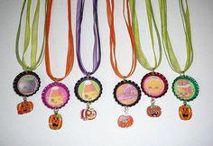 Shopkins Halloween Pumpkin  Charms   6 - Bottle Cap Necklace  Party Favors…