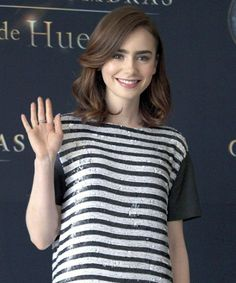 Lily Collins hair- Want to cut my hair like this