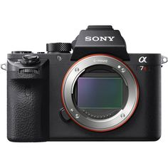 "Sony Alpha a7RII Mirrorless Digital Camera (Body Only)       Product Highlights  -42 MP Full-Frame Exmor R BSI CMOS Sensor -BIONZ X Image Processor -Internal UHD 4K Video & S-Log2 Gamma -5-Axis SteadyShot INSIDE Stabilization -399 Phase-Detect AF Points & 5 fps Burst -0.5"" 2.36M-Dot XGA OLED Tru-Finder EVF -3.0"" 1,228.8k-Dot Tilting LCD Monitor -ISO 102,400 and Silent Shutter Mode -Durable Reduced-Vibration Shutter Design -Built-In Wi-Fi Connectivity with NFC You Pay:  $3,198.00"