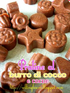 Praline al burro di cocco #ricette  #praline
