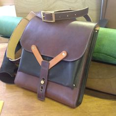 Leather hunting bag by wolfram Lohr