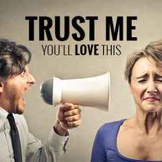Dont be this guy. Learn how to Brand correctly to build Trust &  Credibility