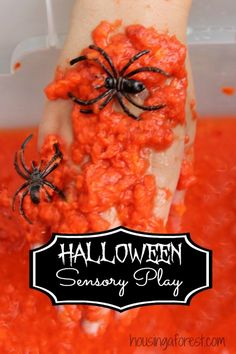 Halloween Sensory Play - a fun fall play recipe that your kids will love.
