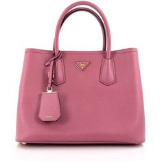 a75ddb49c947 Pre-Owned Prada Cuir Double Tote Saffiano Leather Medium (6.170 BRL) ❤ liked