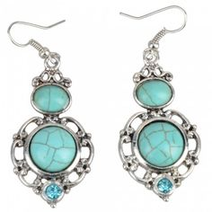 Fashion Turquoise Earrings | favwish - Jewelry on ArtFire