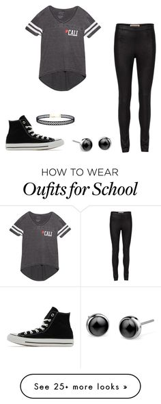 """back to school #2"" by dubstepfreak on Polyvore featuring Wet Seal, Converse and LULUS"