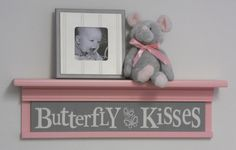 Nursery Shelves DIY - Gray and Pink Baby Girl Nursery Shelves Love You To The Moon And Back Sign on 30 Light Pink Shelf, Grey Nursery Wall Decorations. Pink And Gray Nursery, Pink Grey, Pastel Pink, Brown Nursery, Lilac, Ivory White, Hot Pink, Baby Girl Nursery Decor, Nursery Wall Decor