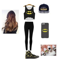 """batman"" by myamarie101 ❤ liked on Polyvore featuring Converse and Max Studio"