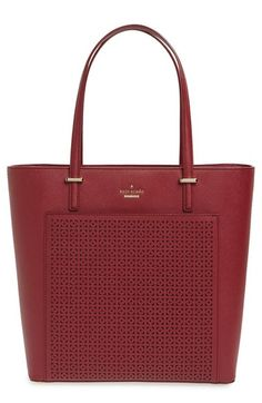 KATE SPADE 'Cedar Street - Tayler' Perforated Leather Tote. #katespade #bags #leather #hand bags #tote #