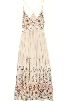 Vanessa Bruno's airy silk-georgette dress was made for carefree sunny days. The lingerie-inspired silhouette is romantic and the mid-length design is a refreshing alternative to shorter hemlines. Temper this diaphanous piece with tall wedge sandals.
