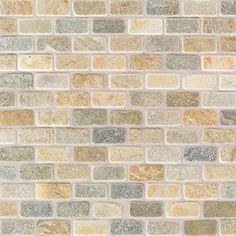 China Gold Brick Joint - Tumbled Slate Collection by American Olean