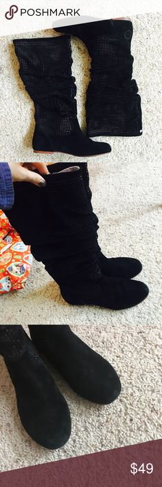 UGG Albiene Suede Boot In good condition, wear on sole as pictured . No trades . UGG Shoes Ankle Boots & Booties