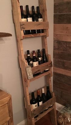 Ladder Style 12 Bottles Wine Rack | 1001 Pallets ideas ! | Scoop.it