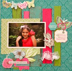 Fly Free by Kaisercraft & of course, one of my beautiful Granddaughters!