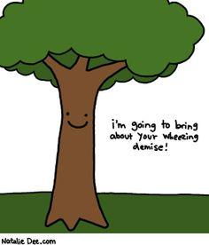 Comic by Natalie Dee: tree allergies