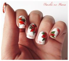 Nail Art: Poinsettia Nails