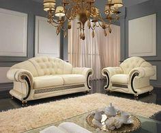Genial Italian Leather Sofa Medusa For Sale