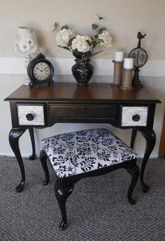{createinspire}: Queen Anne Vanity with French Script Drawers