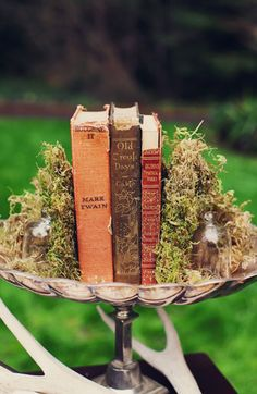 moss, old books & silver