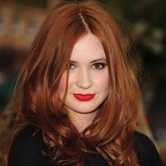 red hair...red lips...
