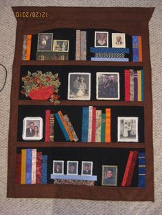 Bookshelf Quilt Pattern - WoodWorking Projects & Plans Paper Pieced Quilt Patterns, Patchwork Quilting, Quilt Patterns Free, Applique Quilts, Art Quilting, Quilting Board, Jellyroll Quilts, Easy Quilts, Quilting Projects