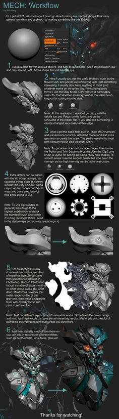 Here is a breakdown on how i approach my models, enjoy! Also included a video here of another cyborg speedsculpt: www.youtube.com/watch?v=8SlOw4… Software: Sculpting: Zbrush Post work: ...