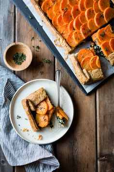 Craving comfort food? This Cheesy Sweet Potato Kale Galette with Roth Grand Cru Reserve is perfect for fall. Photo and recipe by BojonGourmet.
