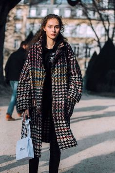 Image result for loose coat street style 2017