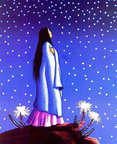 Cuando encontramos el coraje y la fe en nosotros mismos, podemos superar el miedo al futuro. Cuando rehusamos degradarnos mentalmente a nosotros o a otros, la mente se aclara y nos permite estar presentes, conscientes de todo lo que está pasando en un determinado momento. Cuando vamos más allá de los lugares donde nos hemos estancado, sentimos la vida otra vez. Cuando aprendemos a sentir de nuevo, podemos curarnos.  Jamie Sams La medicina de la tierra  Arte: Carl Gorman