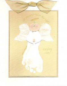 Footprint Angel. This is a cute idea to do as a baby and then hang it up every Xmas