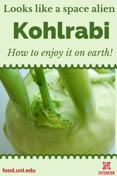 How to include kohlrabi in meals and snacks -- tastes like a cross between cabbage and turnips. #NebExt
