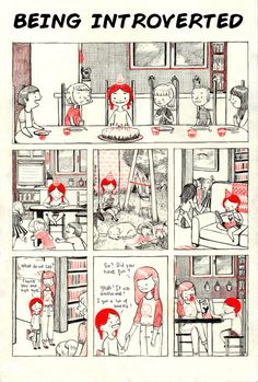 Introversion, a comic by luchie intj, french fries, introvert humor, comics illustration Comics Illustration, Illustrations, Mbti, Introvert Humor, Comic Manga, Infj, Book Worms, Nerdy, Character Design